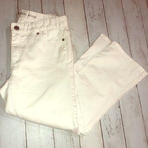 Michael Kors White Crop Jeans 2
